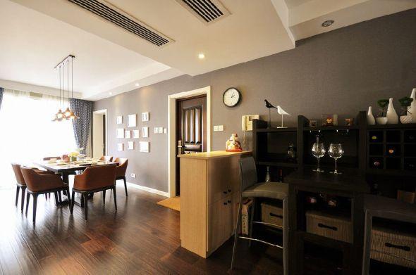 客厅吧台美式风格装潢设计图片