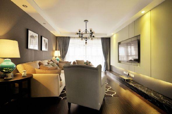 客厅灯具美式风格装饰效果图