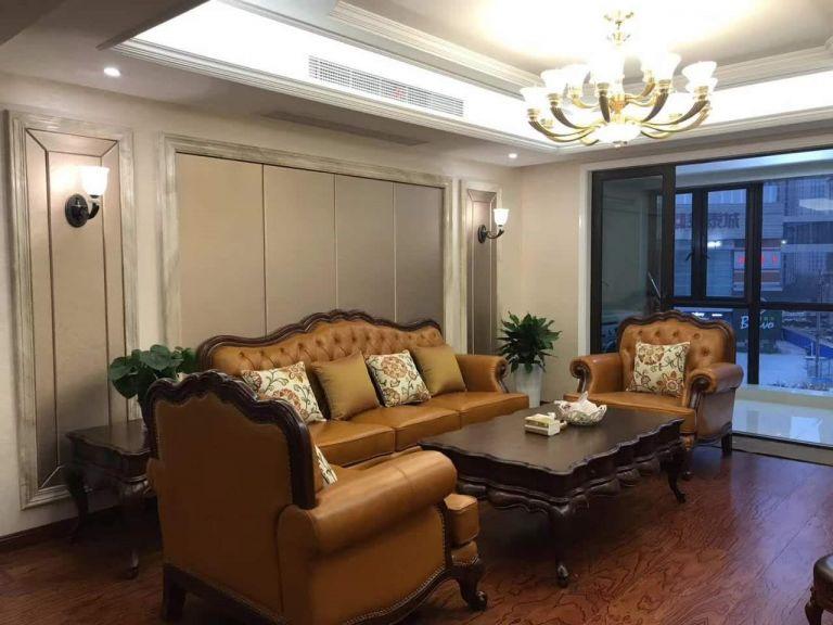 9万预算119平米三室两厅装修效果图