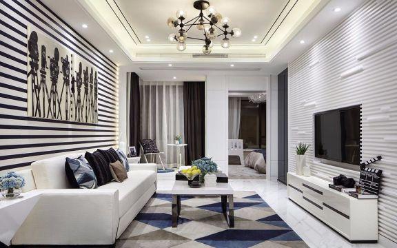 永欣新寓98平两室两厅简约风格装修效果图