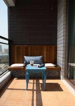 阳台橙色地砖装修案例效果图
