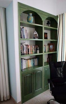 地中海书房窗帘装潢图片