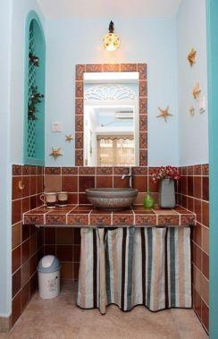 卫生间洗漱台地中海风格装饰图片