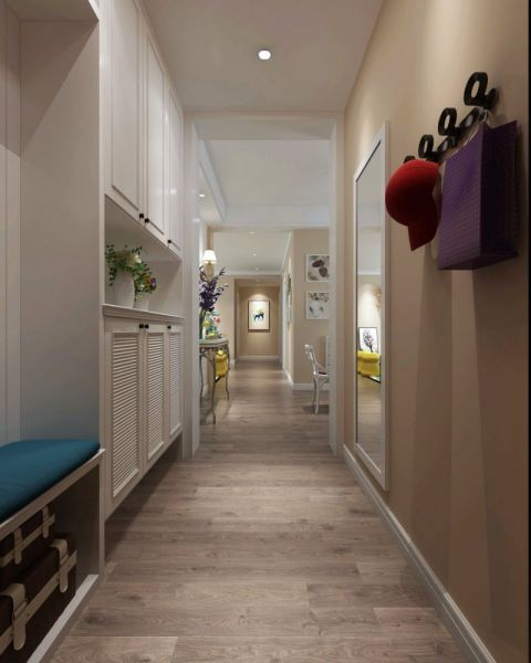 玄关走廊北欧风格装潢图片