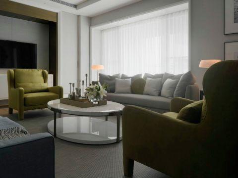 现代简约风格130平米两室两厅新房装修效果图