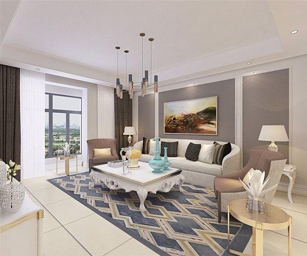 现代简约风格160平米两室两厅新房装修效果图