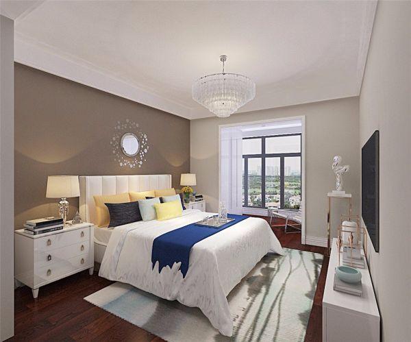卧室床头柜现代简约风格装潢设计图片