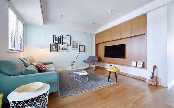 花语城三室两厅北欧风格90平米装修效果图