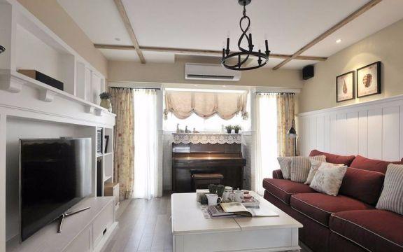 田园风格125平米三室两厅新房装修效果图