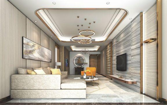 143平方轻奢现代风四室两厅两卫恒利翠竹苑装修效果图