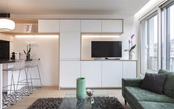 客厅绿色沙发现代简约风格装修图片