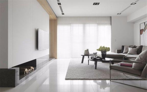 客厅灰色沙发北欧风格效果图