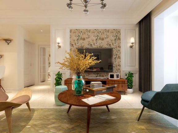 客厅咖啡色茶几现代简约风格效果图