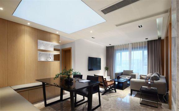 仁恒翠竹园130平现代三室两厅两卫装修效果图