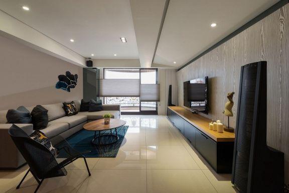 北欧风格86平米一房两厅新房装修效果图