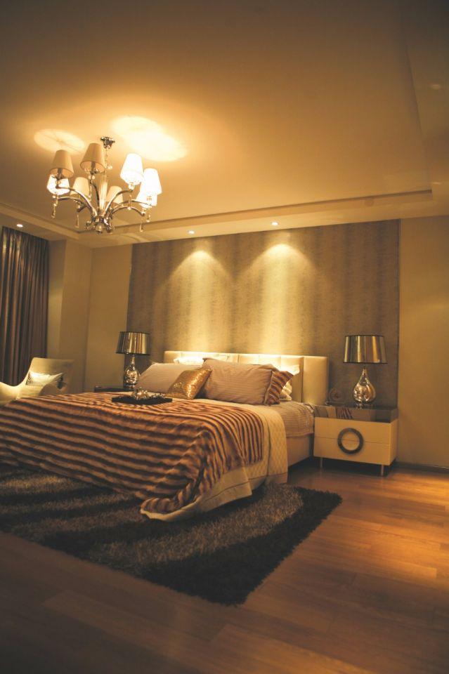 现代简约风格99平米三室两厅新房装修效果图