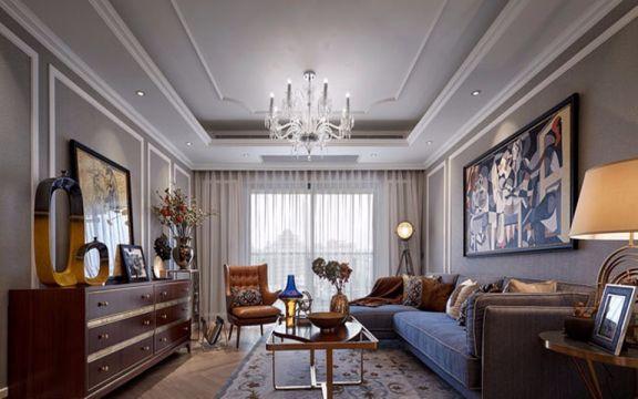 金域华府美式风格90平方三居室装修效果图