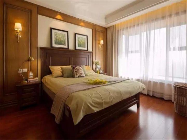 卧室黄色窗帘新古典风格装饰设计图片