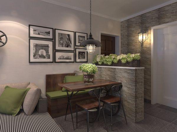 餐厅灰色照片墙美式风格装潢效果图