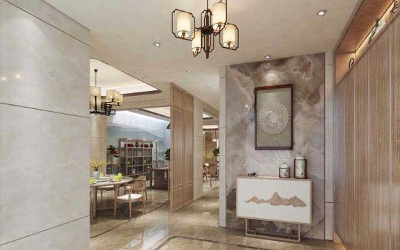 玄关吊顶新中式风格装饰设计图片