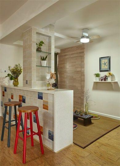 餐厅彩色吧台现代风格装饰效果图