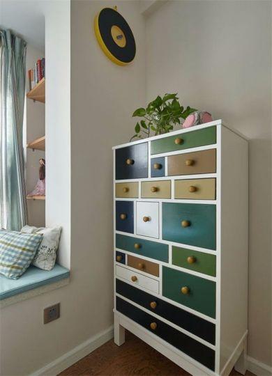卧室彩色衣柜现代风格装饰图片