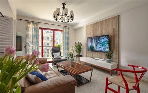 95平北欧风格三居室装修效果图