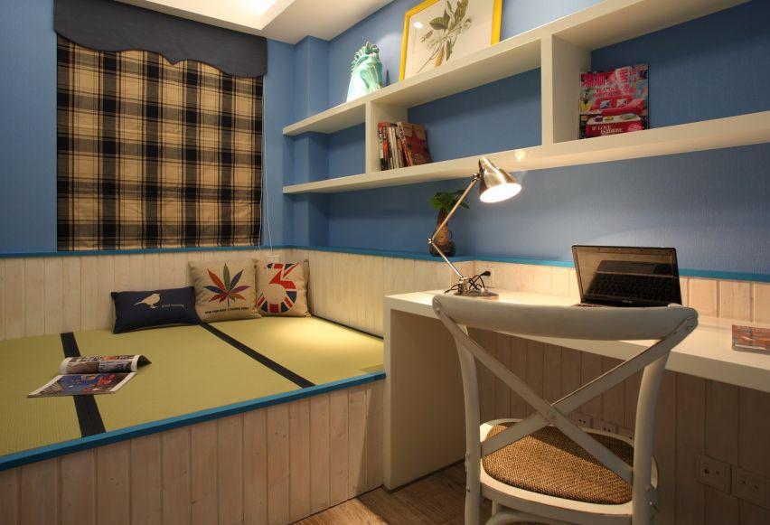 书房榻榻米美式风格装饰效果图