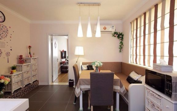 95平米现代简约风格二居室装修效果图