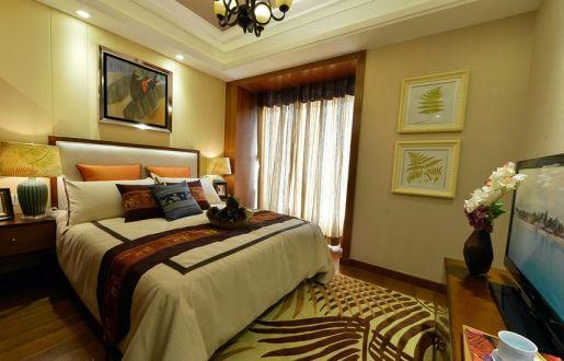 卧室窗帘东南亚风格装修效果图