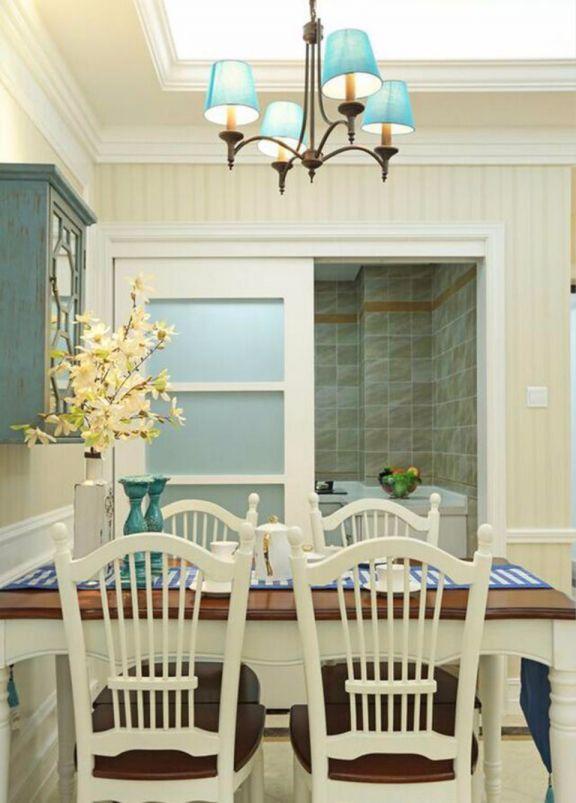 餐厅餐桌地中海风格装潢效果图