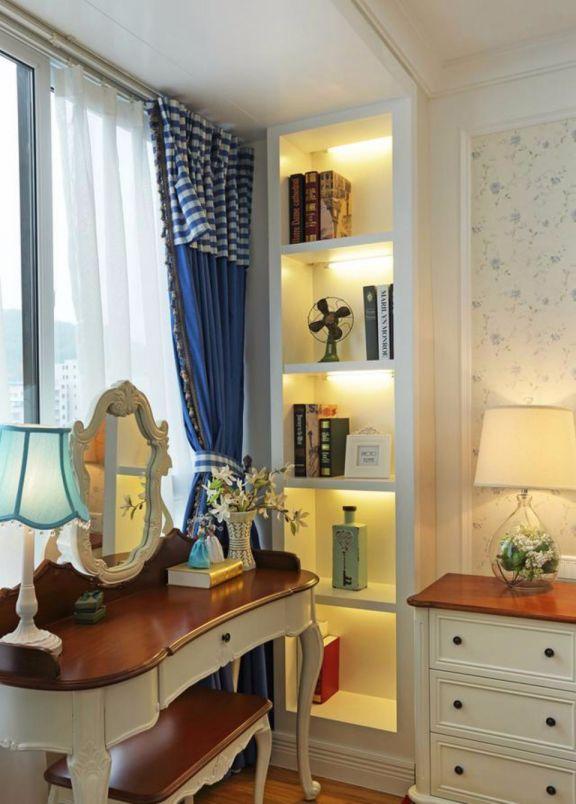 卧室梳妆台地中海风格装饰图片