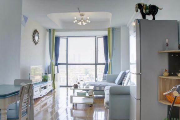 地中海风格56平米两室两厅新房装修效果图