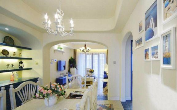 餐厅灯具地中海风格装饰图片