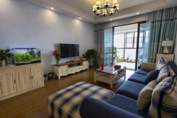 地中海风格98平米两室两厅新房装修效果图