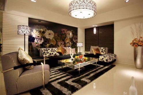 客厅地砖现代简约风格装饰效果图