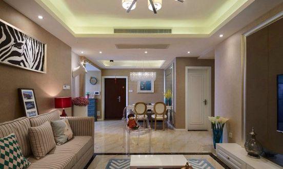 混搭风格87平米两室两厅新房装修效果图
