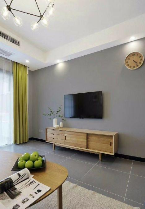 北欧风格88平米两室两厅新房装修效果图