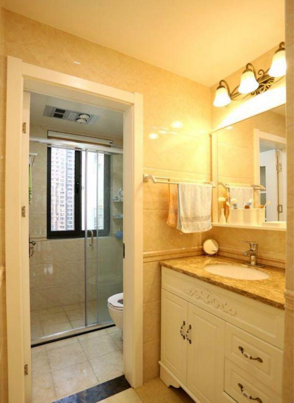 卫生间洗漱台混搭风格装潢设计图片