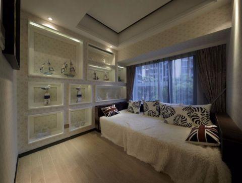 卧室窗帘后现代风格装修效果图