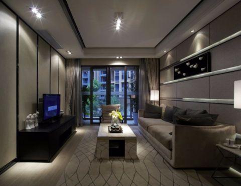 客厅茶几后现代风格装潢效果图