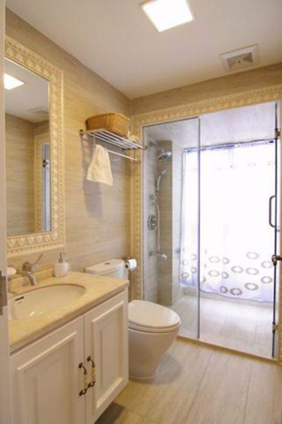 卫生间洗漱台欧式风格装潢设计图片