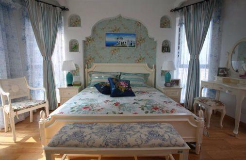 地中海风格97平米两室两厅新房装修效果图