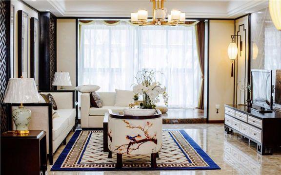竹海水韵130平米新中式三居装修效果图