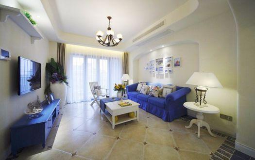 2018地中海90平米装饰设计 2018地中海三居室装修设计图片