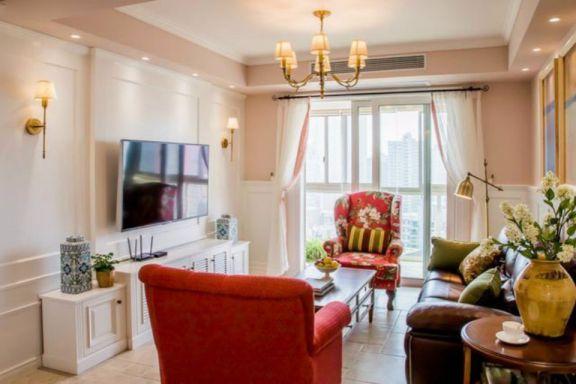 茶亭国际两室两厅115平欧式装修效果图