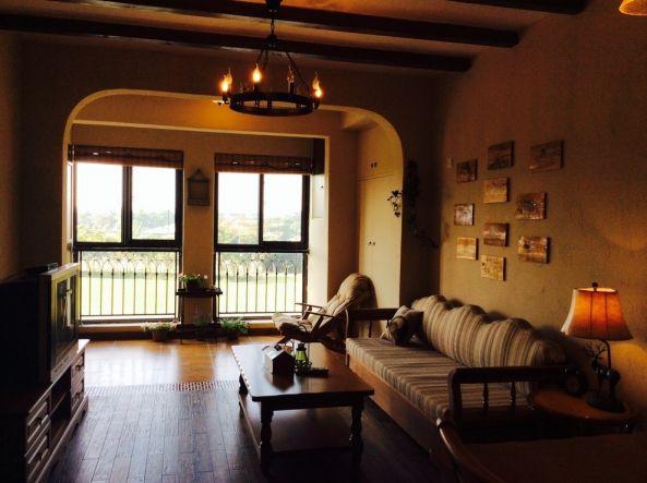 地中海风格67平米两室两厅新房装修效果图