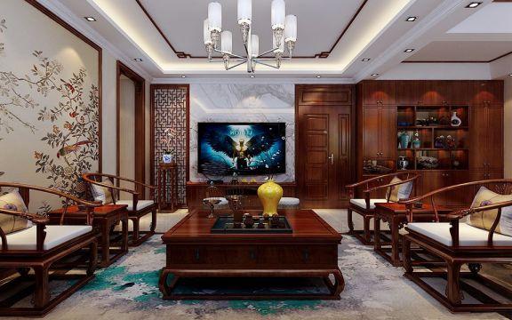 龙城天悦140平米中式风格装修效果图