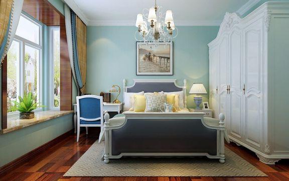 卧室床中式风格装潢图片