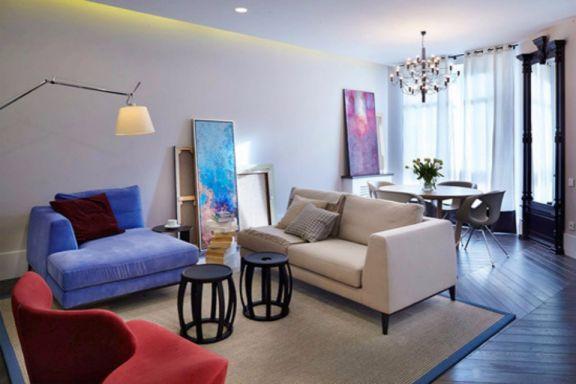新嘉小区两室一厅79平现代简约装修效果图